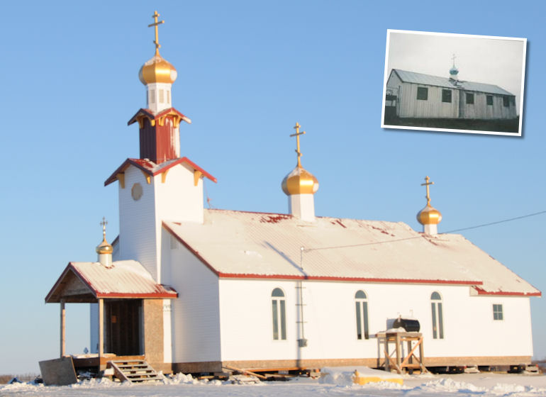 St. Sophia Before and After